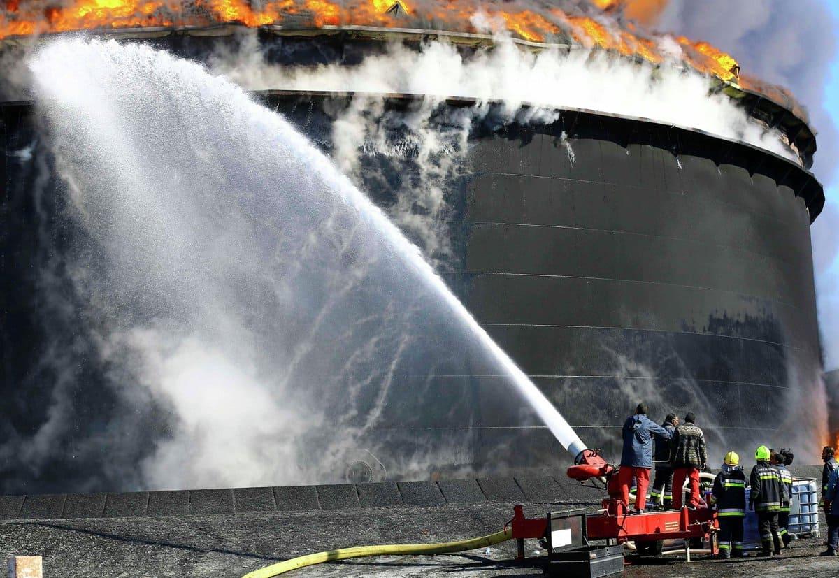 Тушение нефти