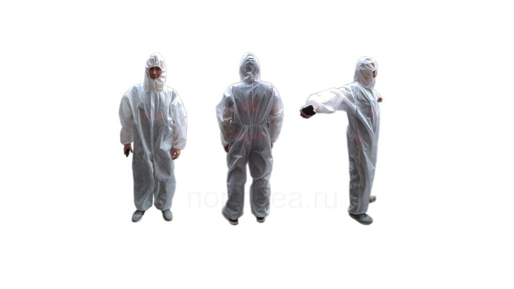 Одноразовый грязепылезащитный костюм-комбинезон
